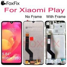 """Originalสำหรับ 5.84 """"Xiaomi PlayจอแสดงผลLCD Touch Screen Digitizer AssemblyสำหรับXiaomi Miเล่นLCDกรอบเปลี่ยนm1901F9E"""