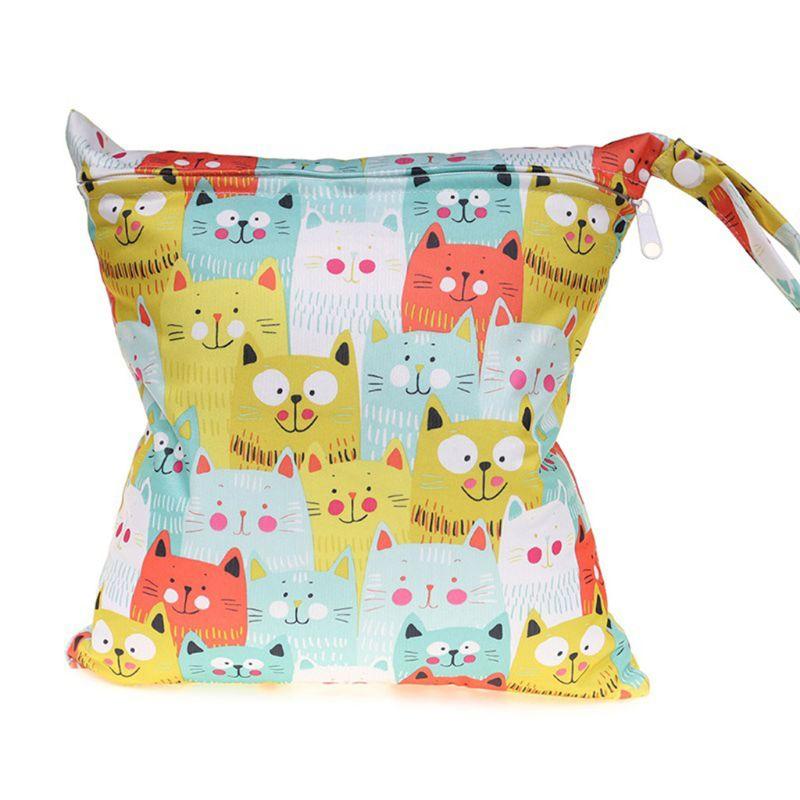 Reusable Waterproof Infant Stroller Travel Small Size Zipper Diaper Storage Bag