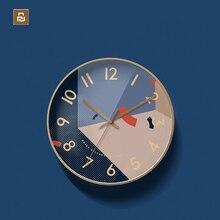 Youpin Yuihome Decor zegar ścienny 30.5cm szkło lustrzane powierzchnia Art wzory geometryczne domowy cichy zegar do inteligentnego domu