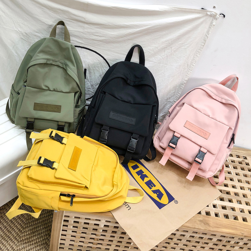 New Trend Female Backpack Casual Classical Women Backpack Fashion Women Shoulder Bag Solid Color School Bag For Teenage Girl