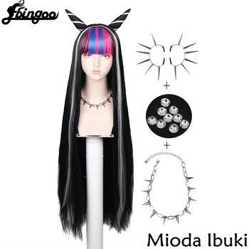 【Ebingoo】New Danganronpa Mioda Ibuki Cosplay Wigs 100cm Long Heat Resistant Synthetic Hair Perucas Wig Cap - discount item  30% OFF Synthetic Hair