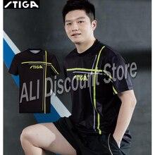 2019 new arrival Stiga Table tennis clothes sportswear quick dry short sleeved men ping pong Shirt Badminton Sport Jerseys