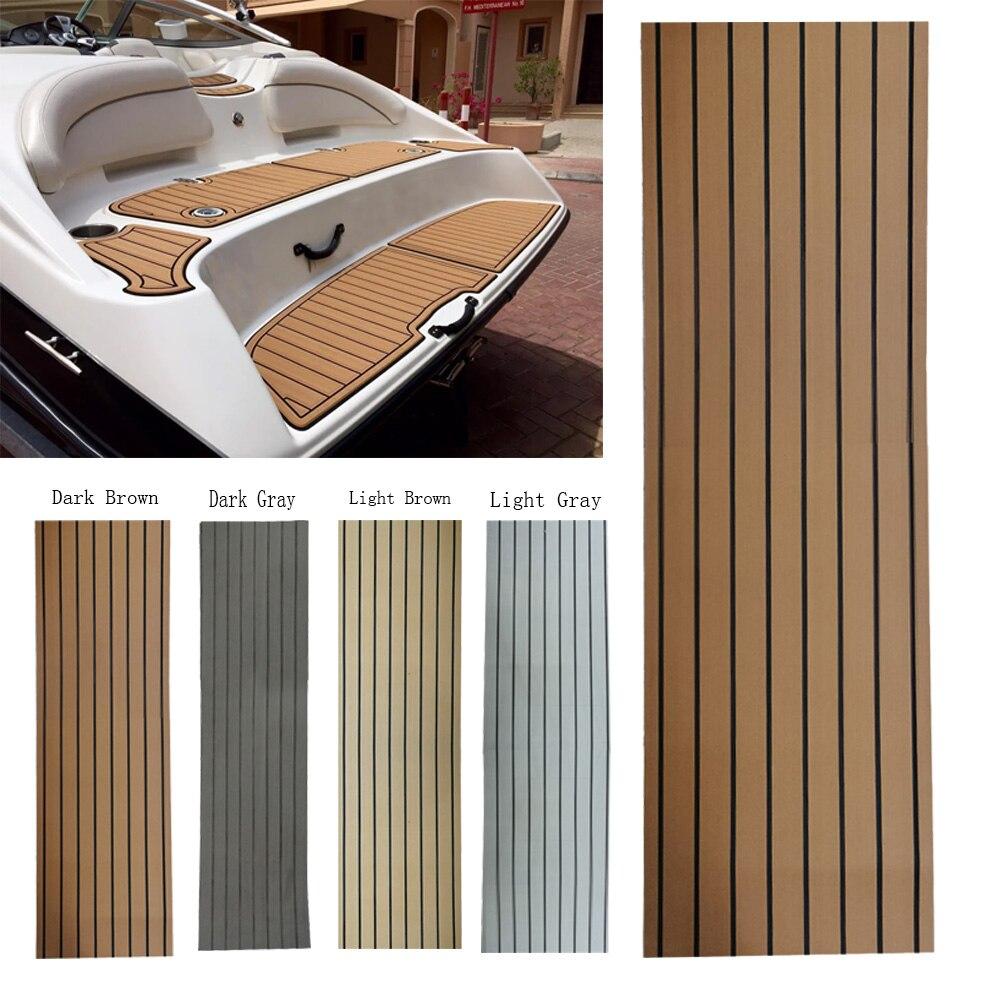 240*45*0.6cm EVA Teak Sheet Car Marine Boat Flooring Non-slip Mat Yacht Inflatable Boat Decking Self-Adhesive Anti Skid Pad