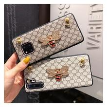 Honingbij Telefoon Case Voor Iphone 12 11 Pro Xs Max SE2020 X Xs Xr 6S 7G 8Plus luxe Pu Lederen Crossbody W/Riem