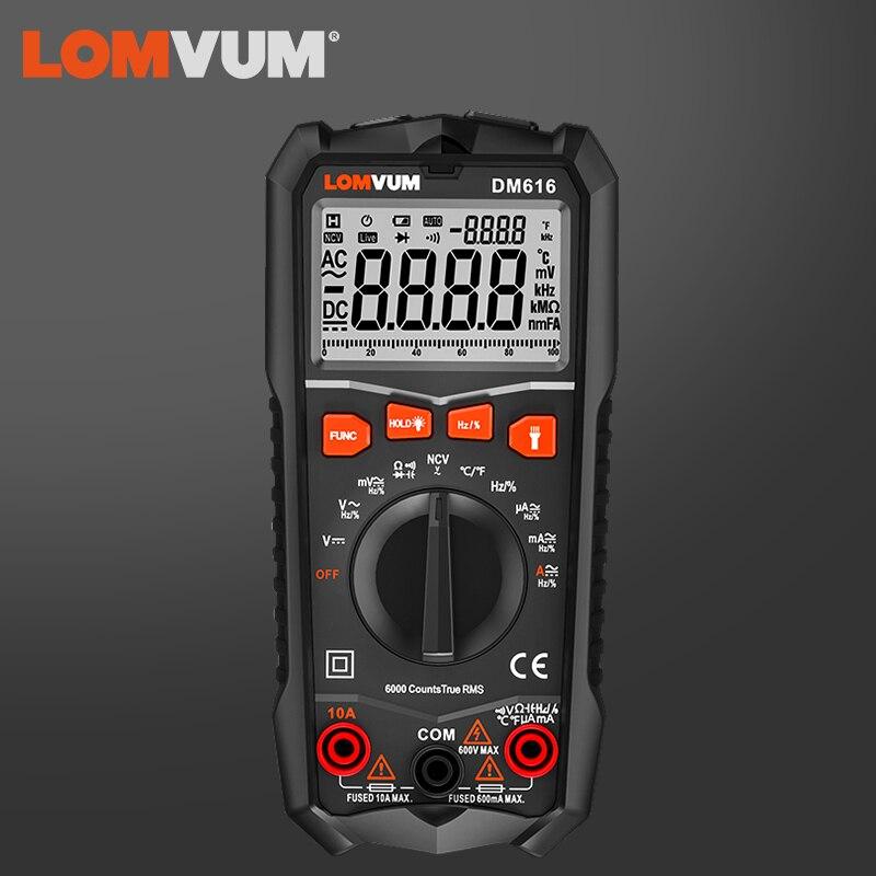 LOMVUM NCV Digital Multimeter 6000 Counts Auto Ranging AC/DC Voltage Meter Tester