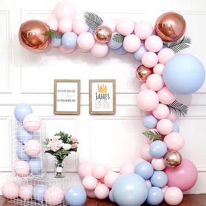 Image 2 - Macarone Balloon Chain Suit Birthday Wedding Birthday Party Balloon Valentines Day Decoration Party Supplies Balloon garland