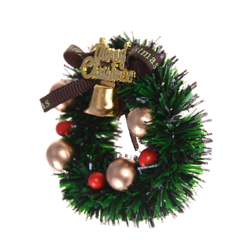 1Pc 1 12 Scale Dollhouse Mini Miniature Christmas Wreath Garland Christmas Ornaments Xmas Decor in Pendant Drop Ornaments from Home Garden