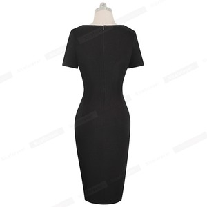 Image 2 - Nice forever New Spring Elegant Stylish Contrast Color Patchwork Office Work vestidos Business Bodycon Women Dress B571