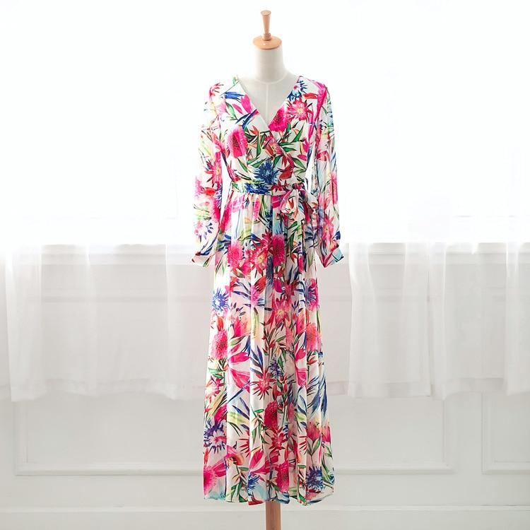 Autumn Long Sleeve Polka Dot Printed Long Dress Vintage Women's Cotton Linen Dresses Female Kaftan Vestido Femme Sundress