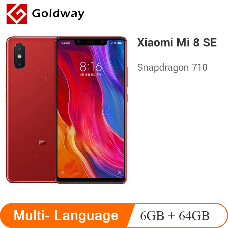 "Original Xiaomi Mi 8 SE 6GB RAM 64GB ROM Mobile Phone Snapdragon 710 Octa Core 5.88"" 18.7:9 Full Screen 20MP Camera 3120mAh"