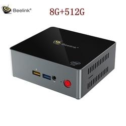 Beelink J34 J3455 Mini pc tv box 8GB RAM 512GB SSD 1000M LAN 5G WIFI bluetooth 4.0 obsługa Windows 10 szybkie ładowanie