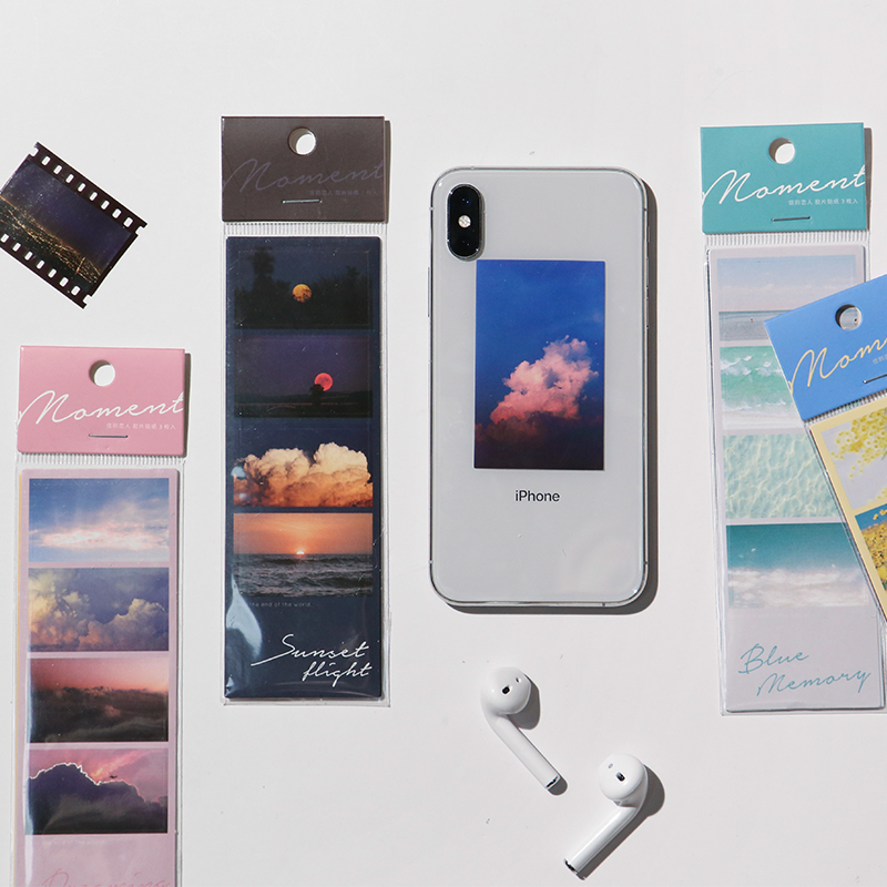3sheets Frame Series Mobile Phone Back Decoration Stickers DIY Kawaii Sticker Bullet Journal Sticker School Supplies
