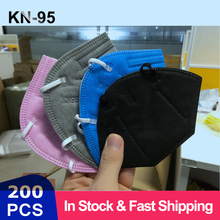 Fast Shipping 5 Layers FFP3 KN95 Mask 6 Color Protection Mask Safety Respirator Protective Mask FFP2 Mask Anti Dust Pollution