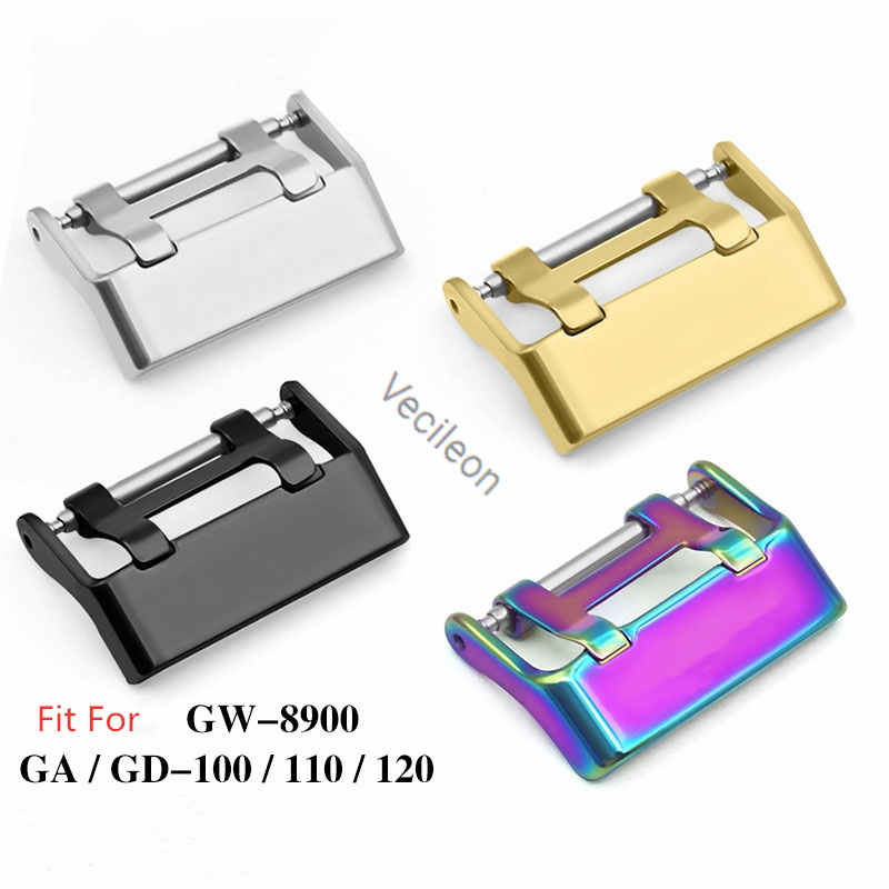 Metal Watch Buckle Men Watchband Strap For GW-8900 GA/GD-100/110/120 High Level 316L Stainless Steel Original Clasp Accessories
