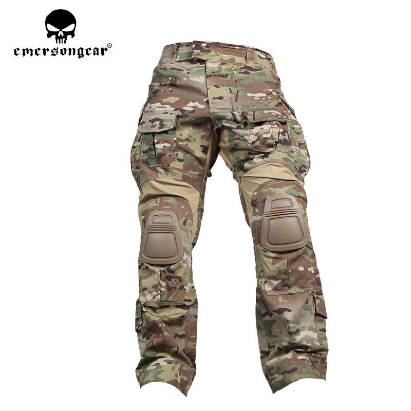 Emersongea G3 Tactical Pants With Knee Pad Airsoft Paintball Combat BDU Trousers Multicam Hunting Military Army Duty Pants