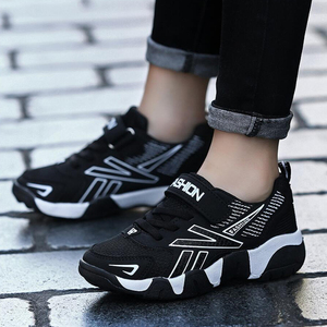 Image 5 - Kids Girls Sport Shoes Running Sneaker 2018 Spring Autumn Children Mesh Leather Outdoor Toddler Casual Sneakers Teenage Trainers