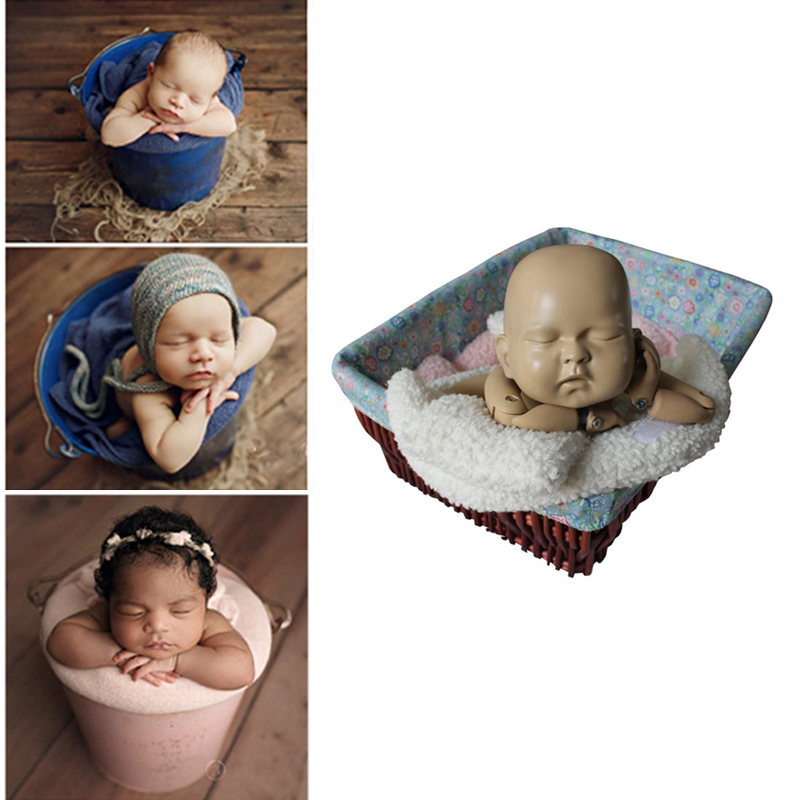 3pcs/set Newborn Photography Props Baby Bucket Mat Newborn Photography Accessories Baby Photo Shot Assistance For Studio New