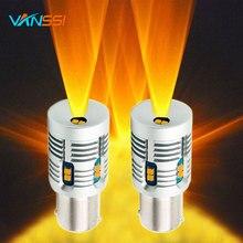 2шт Bau15s 7507 PY21W светодиодный Canbus без ошибок без гипервспышки 2000lm BA15S P21W 7506 1156 светодиодный сигнальный фонарь 6000k белый/желтый
