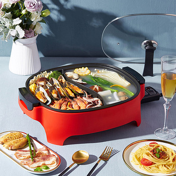 6L Multi-function Electric Cooker Double Flavor Hotpot Household Yuanyang Hot Pot 2100w split type Cooking Machine
