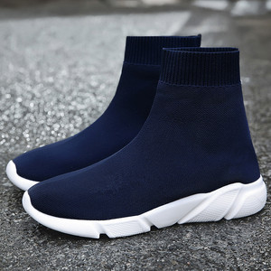 Image 4 - 2019 Hot Sale Men High Top Mesh Casual Shoes Women Breathable Socks Shoes Outdoor Fashion Camouflage Bottom Sneakers Size 35 47