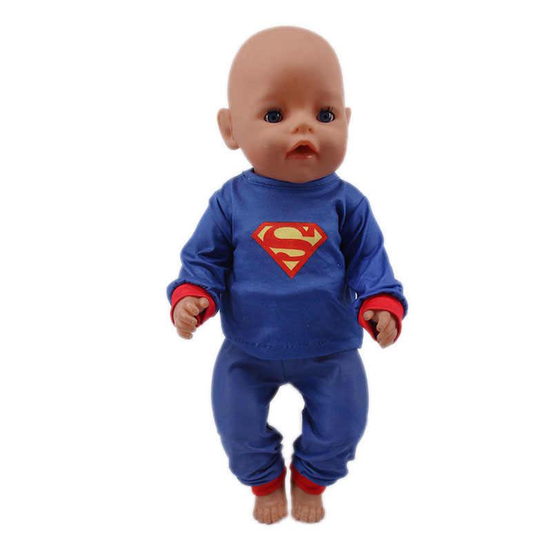 人形服スーパーマンやスパイダーマンコスプレ衣装洋服人形 18 インチアメリカ人形 & 43 センチメートル zaps ベビー人形新生児
