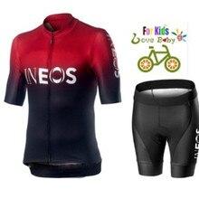 Дышащий Детский комплект из джерси и шортов для велоспорта, детская велосипедная Одежда для мальчиков и девочек, летняя одежда для велоспорта
