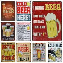 Get more info on the 30X20cm Cold Beer Here Cheers Pratice Plaque Metal Vintage Tin Sign Pub Home Hotel Bar Decoration Painting Wall Poster Art H51