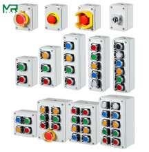Indoor and outdoor button box Emergency stop start switch Power reset alarm iron door elevator motor Electrical control box gold color emergency alarm button 86 86mm fire alarm emergency switch alarm access control switch with key