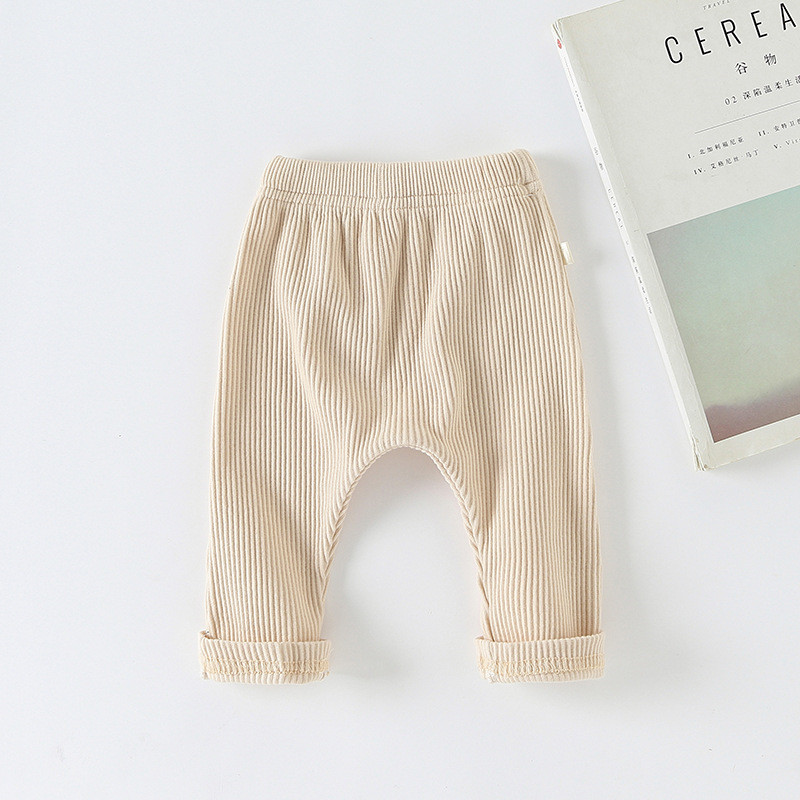 Pants for kids Casual Harems Trousers Bottoming Pant Ribbed Elastic Solid Color Girls Clothing For Baby Boys leggins niña