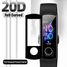 Защитная пленка 20D с закругленными краями для умных часов Huawei Honor Band 4 5, мягкая защитная пленка для экрана, аксессуары (не стекло)