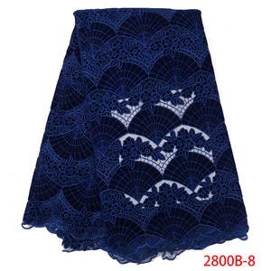 Image 3 - Wholesale Velvet Lace Fabrics New Arrival Fashion African Lace Fabric for Wedding Party High Quality Nigerian Mesh Lace APW2800B