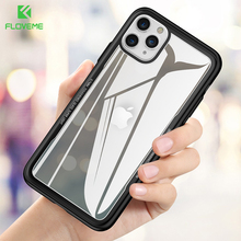 FLOVEME Tempered Glass Phone Case for iPhone 11 Pro XS Max XR X 0.7MM Back 7 8 6 6s Plus Original Funda