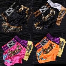 Pantalones cortos Muay Thai para entrenamiento bordado Grappling MMA ropa deportiva de combate para gimnasio, hombres y mujeres