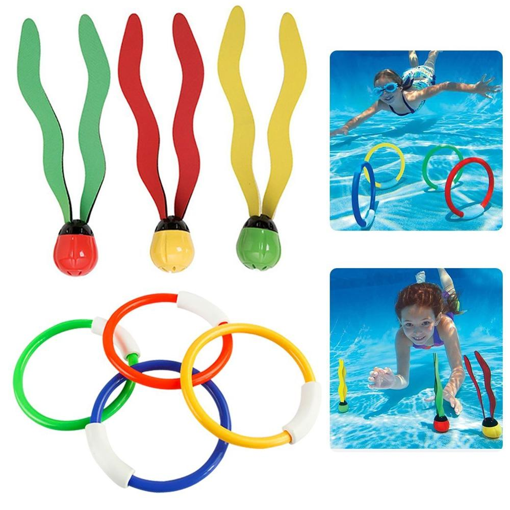 Summer New 3pcs Seaweed Diving Toys Parent-Child Children Swimming Pool Diving Parent-Phild Throwing Sports Games Children Gifts