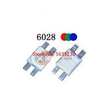 50 шт., 6028 RGB стандартная анодная лампа 6,0*2,8 20 мА, прозрачная вода, красный + синий + зеленый, полные цвета, cree led COB чип, светодиодные силовые ламп...