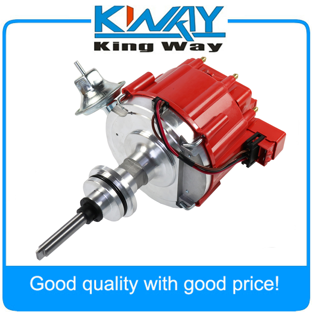 New HEI Distributor Red Fit For Dodge Chrysler Plymouth V8 318 340 360 65K COIL