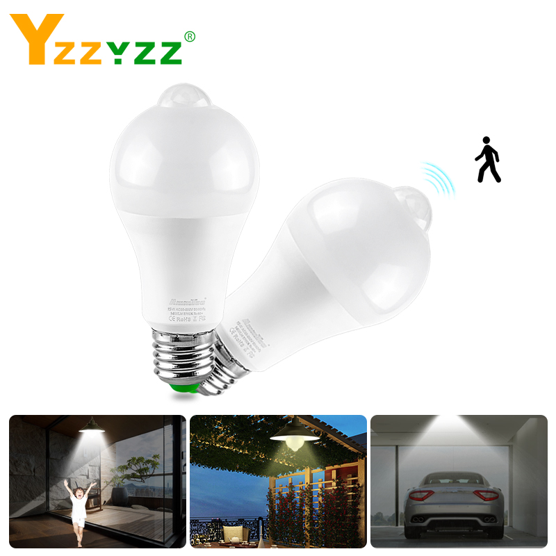 PIR Motion Sensor LED Night Light Bulb With Motion Sensor NightLight AC 85-265V B22 E27 Stair Corridor Sensor Lamp LED Lamparas