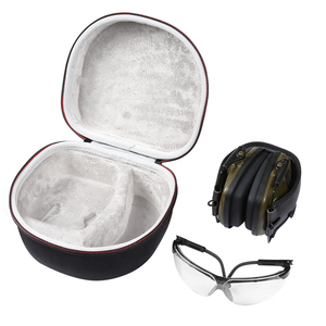 Image 3 - Hard EVA Case for Both Howard Leight By Honeywell Impact Earmuff and Genes accommodating headphones and glasses(only case)