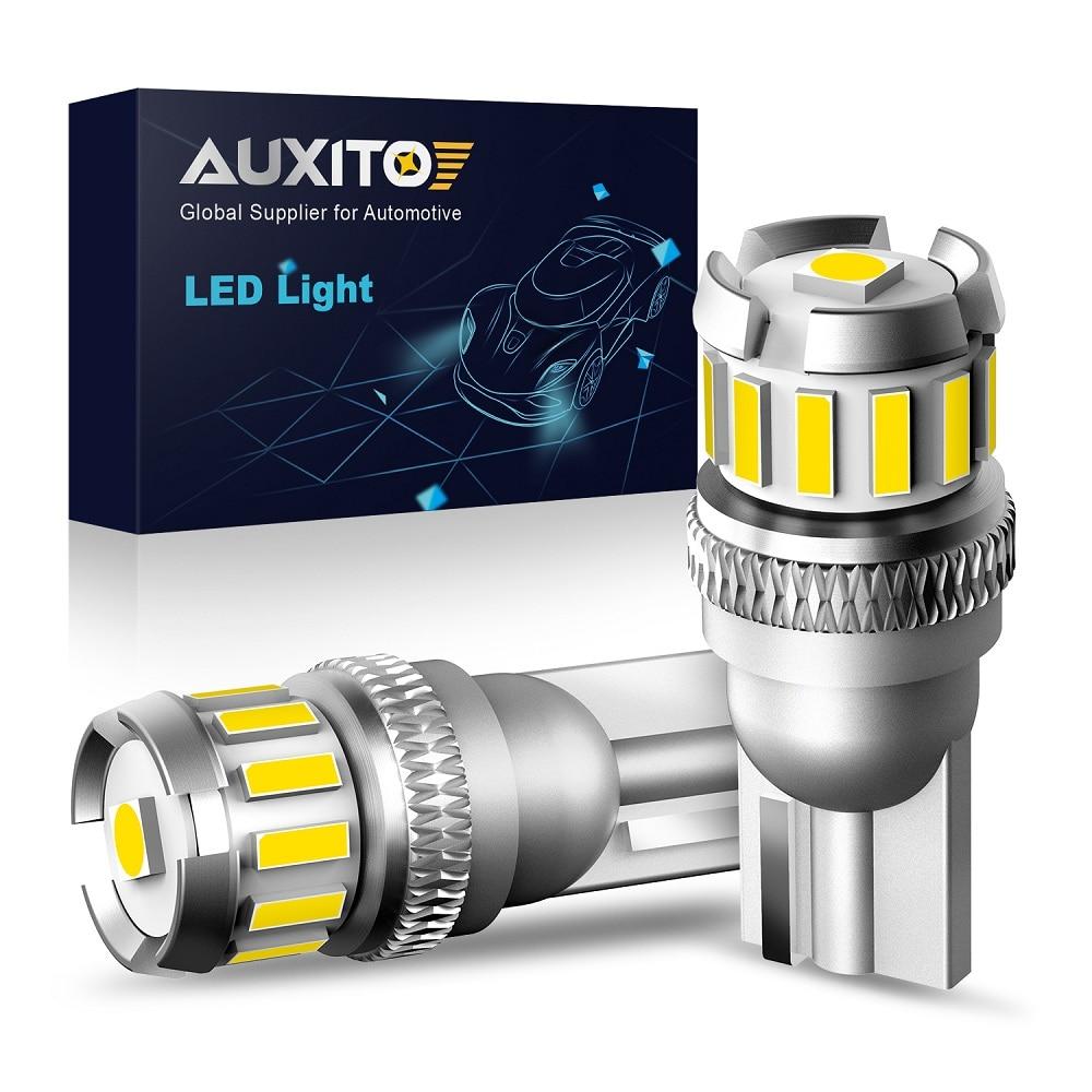 Светодиодсветодиодный лампы AUXITO 2x W5W T10, лампы с Canbus для парковочных огней, s для автомобилей Audi A3, 8P, A4, 6B, BMW E60, E90