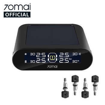 70mai tpms Tire Pressure Monitor System Englisch APP Solar Power USB tpms 70mai Auto Reifen Druck Sensoren System Alarm