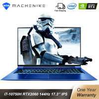 Machenike F117 FPD RTX 2060 Gaming Laptop 2020 Intel Core i7 10750H 8GB 512SSD 17.3 72% NTSC IPS Backlit Keyboard i7 notebook