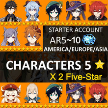 All Combinable 5-Star Account for Genshin Impact Account Dual 5 Star Character Klee Ganyu Childe Diluc Zhongli Instant Delivery cheap NONE CN(Origin) Genshin Impact Account Double 5 Star