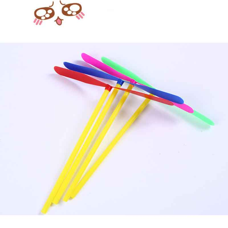 10Pcs/Bag Toy Sports Children Outdoor Bamboo Raft 17cm Dragonfly Outdoor Toys For Children Fairy Flying Saucer Plane