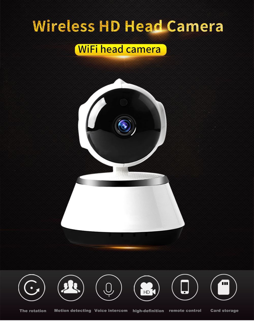 1080P IP Camera Smart Wireless Pan/Tilt Home Security Camera APP Alarm Push Two-Way Audio Support 64GB TF Card Cloud Storage ip