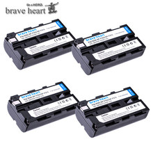 4 pièces NP F550 NP F550 NPF550 Rechargeable Li ion batterie Pour Appareil Photo Sony NP F330 NP F530 NP F570 NP F730 NP F750 NP F770 NP F970