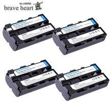 4pcs NP F550 NP F550 NPF550 Rechargeable Li ion Camera battery For Sony NP F330 NP F530 NP F570 NP F730 NP F750 NP F770 NP F970