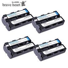 NP 4pcs NP-F550 F550 NPF550 Recarregável Li-ion bateria Para Câmera Para Sony NP-F330 NP-F530 NP-F570 NP-F730 NP-F750 NP-F770 NP-F970