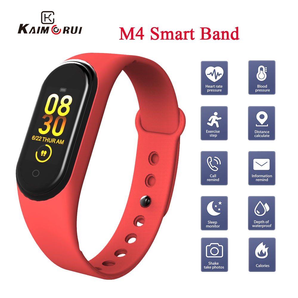 Bracelet Fitness-Tracker Smart-Wristband Blood-Pressure-Watch Health Heart-Rate M4 title=
