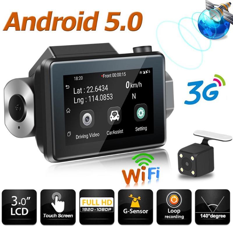 K9 Dash Cam voiture DVR caméra 1080P Full HD 3.0 écran Android 5.0 WiFi Dashcam GPS enregistreur voiture caméra enregistreur double lentille WDR