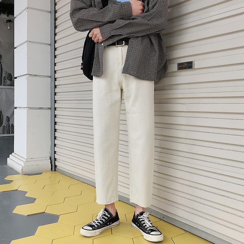 Осенние джинсы, мужские тонкие, модные, вареные, одноцветные, повседневные, джинсовые штаны, Мужская Уличная одежда, хип-хоп, прямые